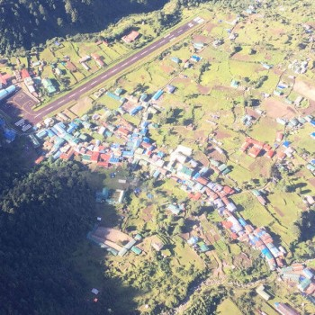 Lukla Village on 2840 Meter High with Tenzing Hillary Airport
